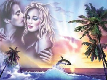 Fantasy Art Jigsaw Puzzle by RavensburgerPuzzles titled Tropical Romance 1000Pieces tropicalromance