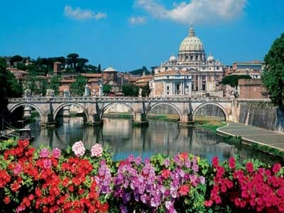 Ravensburger Jigsaw Puzzle 1000 Pieces of Angels Bridge & Saint Peters Basilica in Rome angelsbridgestpetersbasilicarome