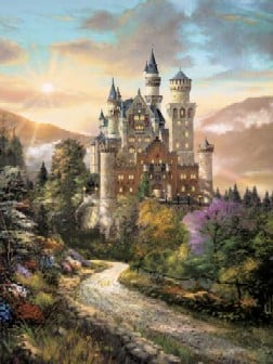 Enchanted Neuschwanstein Castle in Bavaria Germany Jigsaw Puzzle by Ravensburger Pieces 1000 by Shei enchantedneuschwanstein