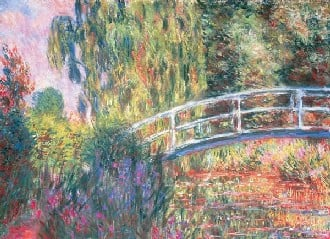 Claude Monet's Japanese Bridge Impressionist Art is transformed into a 1000 piece jigsaw puzzle japanesebridge