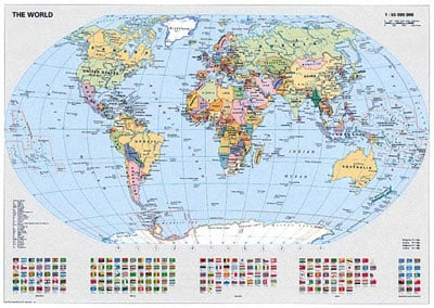 Ravensburger Puzzle # 156528 Political World Map JigsawPuzzle with Country Flags worldmapravensburgerpuzzle
