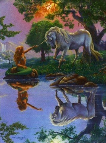 Magical Encounter between mermaid and unicorn fantasy art puzzle by Ravensburger # 156603 magicalencounter