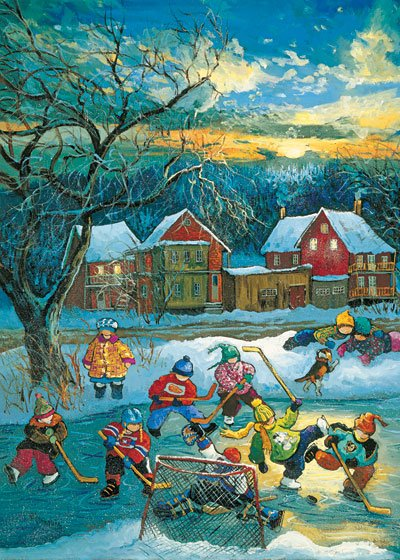 PaulinePaquin QuebecArtist End of the Game Ravenbsurger JigsawPuzzles thousand pieces jigsaws puzzel end-of-the-game-pauline-paquin-puzzle
