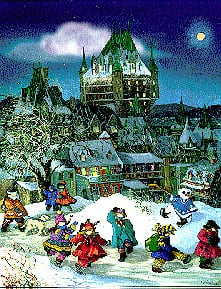 ChateauFrontenac JigsawPuzzle PaulinePaquin Ravensburger1000Pieces # 156757 children playing chateaufrontenac1000