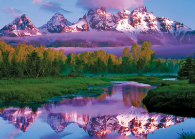 Grand Teton National Park Wyoming Ravensburger 1000 Piece Jigsaw Jungle Puzzle # 156986 grand-teton-national-park-wyoming