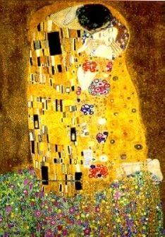 Gustav Klimt's Painting The Kiss 1000 Piece Jigsaw Puzzle made by Ravensburger Puzzles item # 157433 kiss