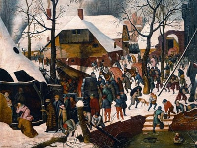 Pieter Brueghel's painting The Adoration 1000 Piece Jigsaw Puzzle by ARvensburger # 157457 theadoration