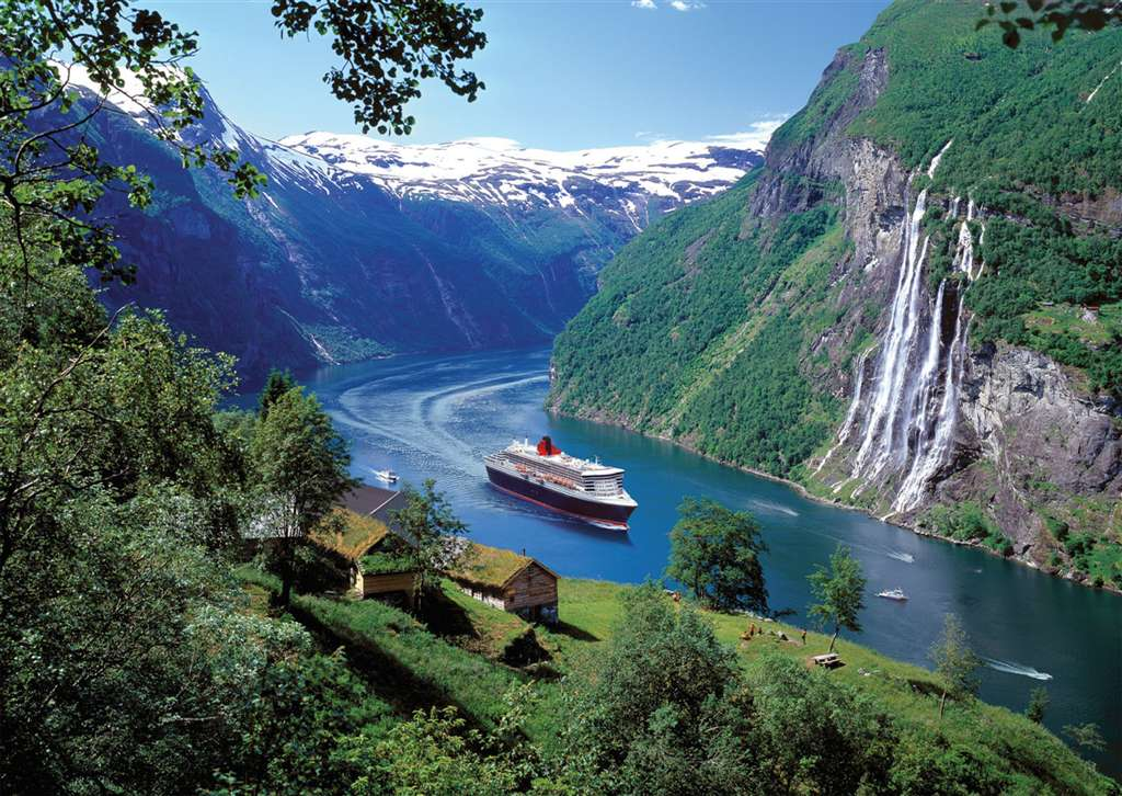 norwegian fjord photo cruise ship jigsaw puzzle ravensburger puzzle norwegian-fjord