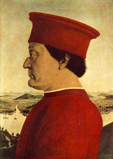 Pierro Della Francesca's Portrait, Frederico Da Monterfeltro painting Ravensburger 1000 piece puzzle portraitfedericodamonterfeltro