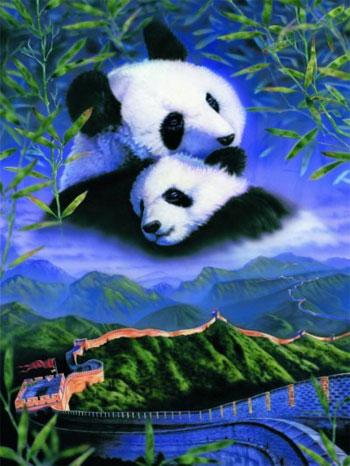 JigsawPuzzles 1000Pieces by RavensburgerPuzzle Maker 158720 Pandas pandas