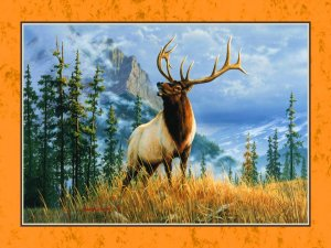 JamesHautman The Stag Painting Jigsaw Puzzle 1000 Pieces by Ravensburegr JigsawPuzzles & Games thestag