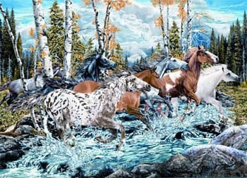 Find the Horses Puzzles Jigsaws Ravensburgers 159284 Rosenthal findthehorses