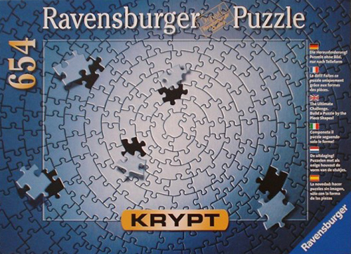 Chryptic puzzle all silver Krypt series no image blank Ravenbsurger JigsawPuzzles thousand pieces ji krypt-silver