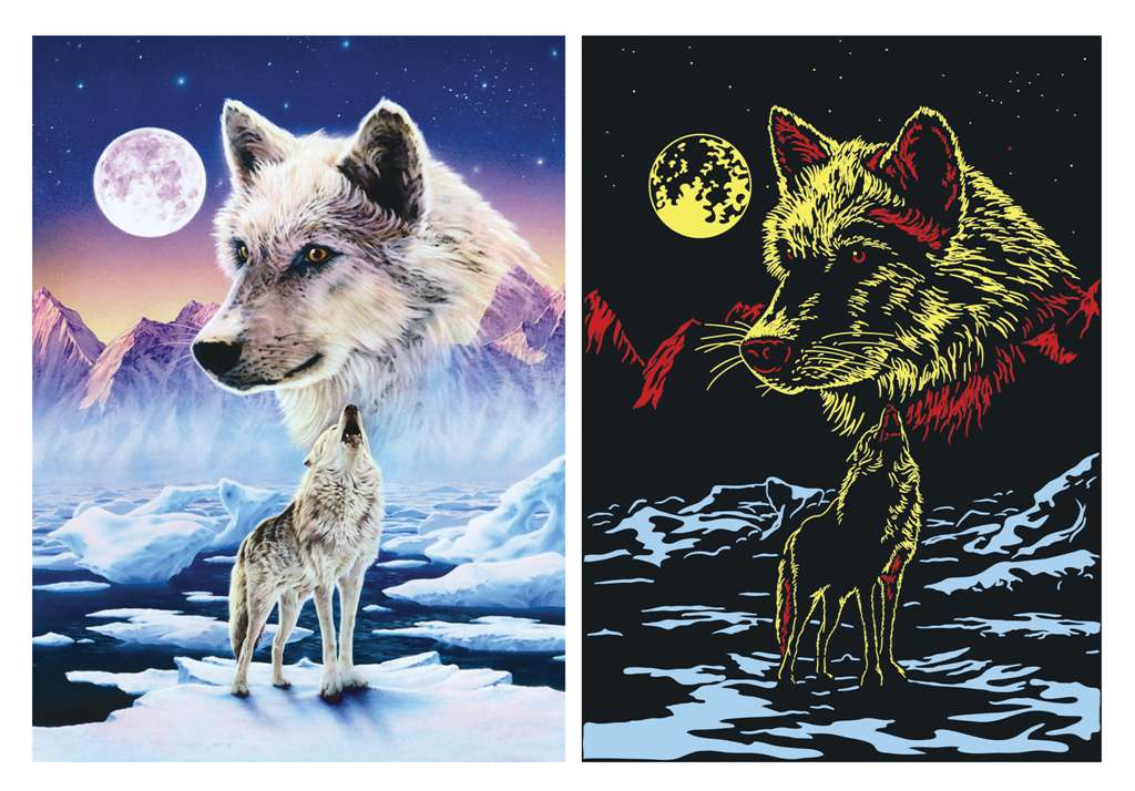 Ravesburger JigsawPuzzle 1000 pieces Starline artctic wolves DavidPenfound beautiful colors 161119  arctic-wolves