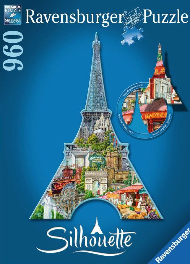 romantic paris eiffel tower jigsaw puzzle, ravensburger, 1000 pieces, antonie serra paris-eiffel-tower-silhouette