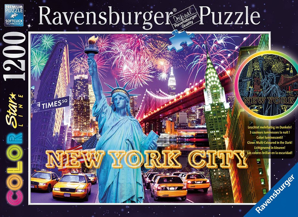 Ravesburger JigsawPuzzle 1200 pieces Color Starline puzzle DavidPenfound beautiful colors 161812 colorful-new-york