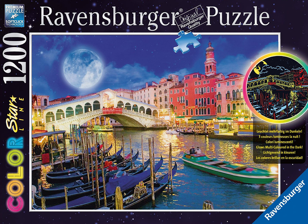 Ravesburger JigsawPuzzle 1200 pieces Color Starline puzzle DavidPenfound beautiful colors 161829 full-moon-venice
