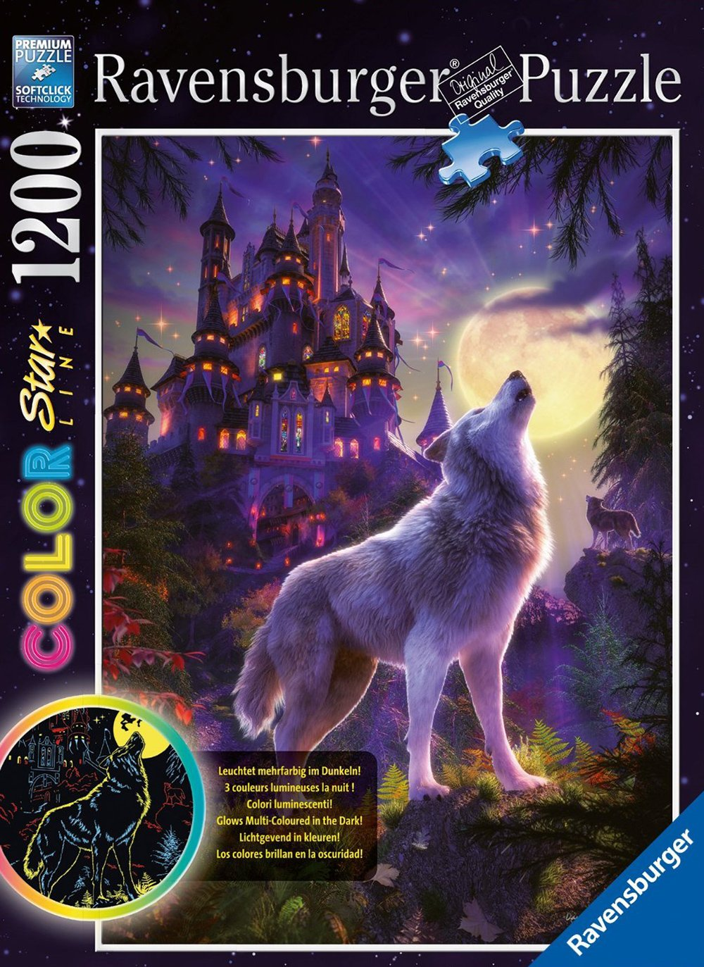 Ravesburger JigsawPuzzle 1200 pieces Color Starline puzzle DavidPenfound beautiful colors 161867 moo moon-wolf