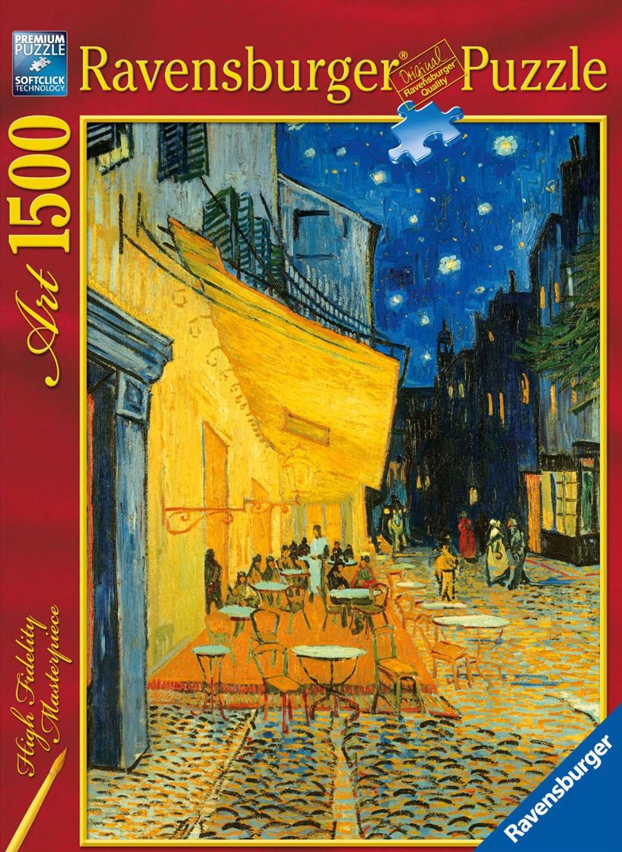Café Terrace at Night Vincent Van Gogh painting jigsaw puzzle museum collection 1500 pieces ravensbu cafe-terrace-at-night-van-gogh