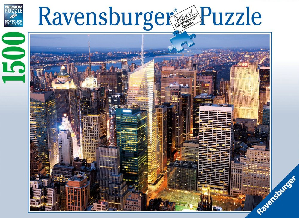 midtown manhattan in new york city photographed by getty images ravensburger jigsaw puzzle, 1500 midtown-manhattan