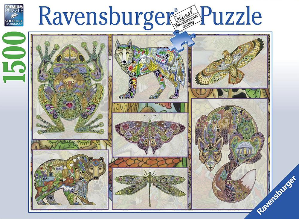 southwestern animals by artist sue coccia 1500 piece puzzle ravensburger southwestern-animals