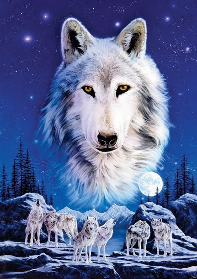 Night of the Wolves 1500 Piece Jigsaw Puzzle by Ravensburger Games Germany night-of-the-wolves-1500-piece-puzzle