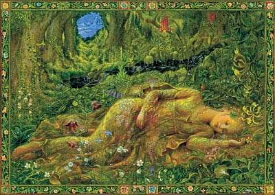 Kinuko y craft jigsaw puzzle 1500 pieces sweet dreams sleeping beauty fantasy artwork sweet-dreams-kinuko-craft-fantasy-art-puzzle