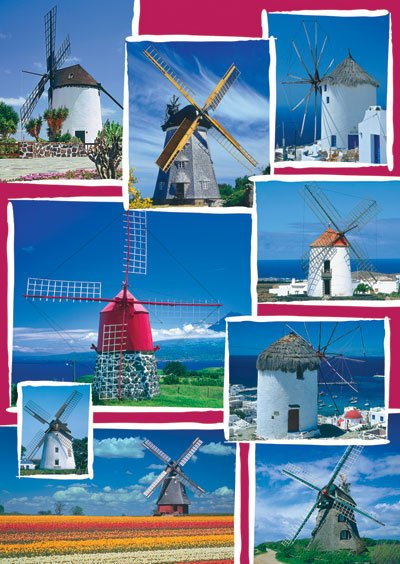 windmill photographs mosaic puzzle ravensburger 1500 pices perfecrt gift idea windmills-1500-pieces-puzzle