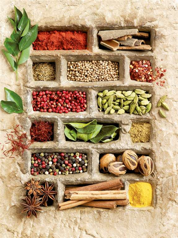 Jigsaw Puzzle 1500 pieces spices in stone gloss effect by Shooter Studios Ltd. manufactured by Raven spices-in-stone