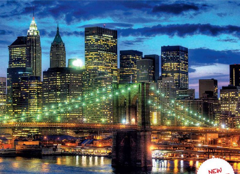 Skyline of New York City 1500 Piece jigsaw puzzle by Ravensburger skyline-of-new-york-city