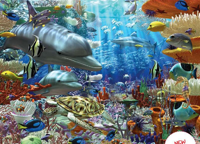 Artist DavidPenfound OceanicWonders Fantasy Art Jigsaw Puzzels Ravensburgers # 162734 1500 Pieces oceanic-wonders