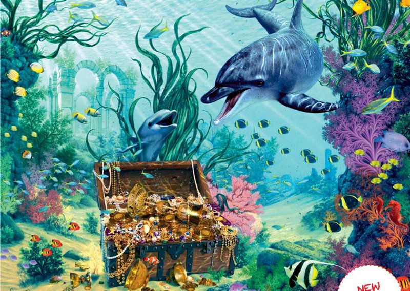Dolphin's Treasure Fantasy Artistic Illustration 1500 Piece Jigsaw Puzzle by RavensburgerPuzzles Ger dolphin-treasure