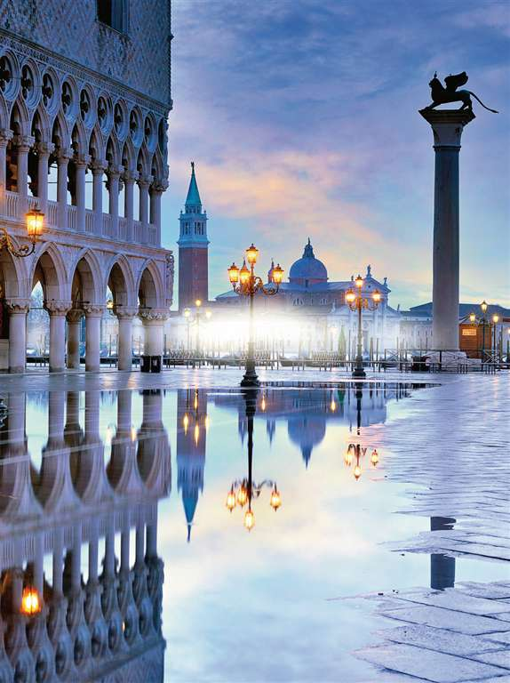 romantic venice scenery of venice 1500 Piece puzzle by Ravensburger 2014 premium puzzel softclick romantic-venice