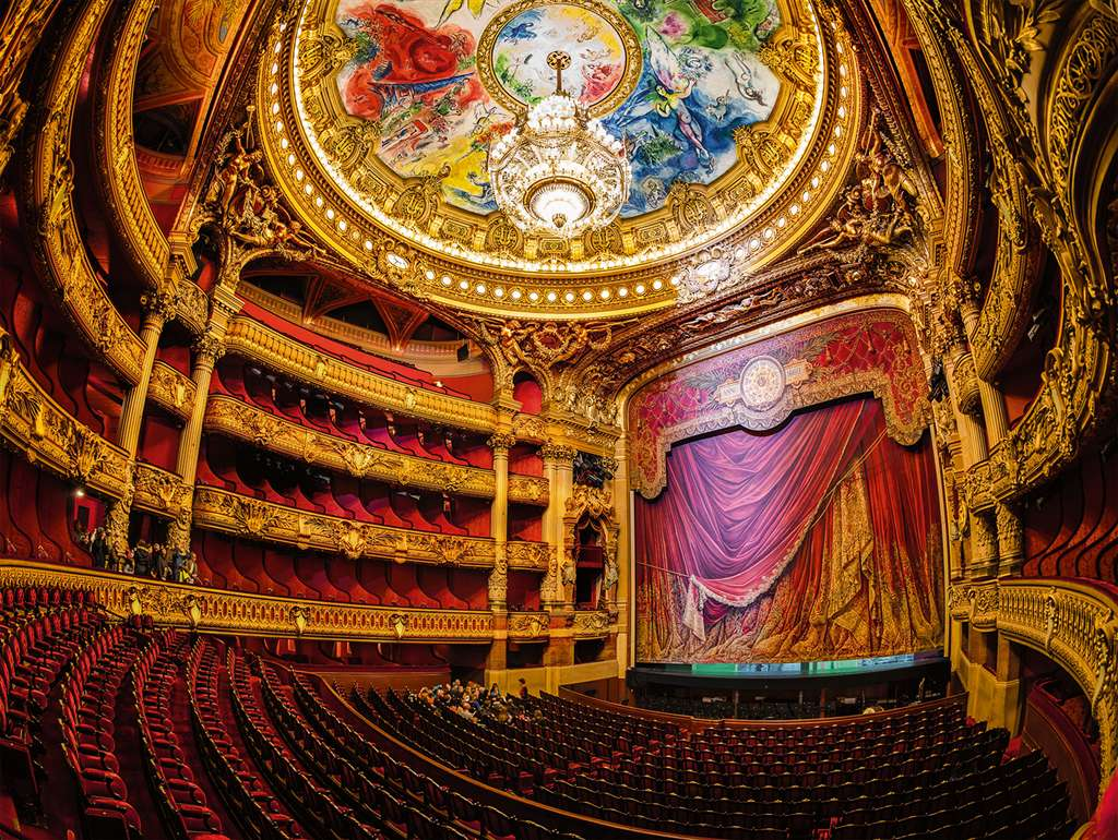 Opera House 1500 Piece Jigsaw Puzzle Manufactured by Ravensburger Puzzles Germany opera-house