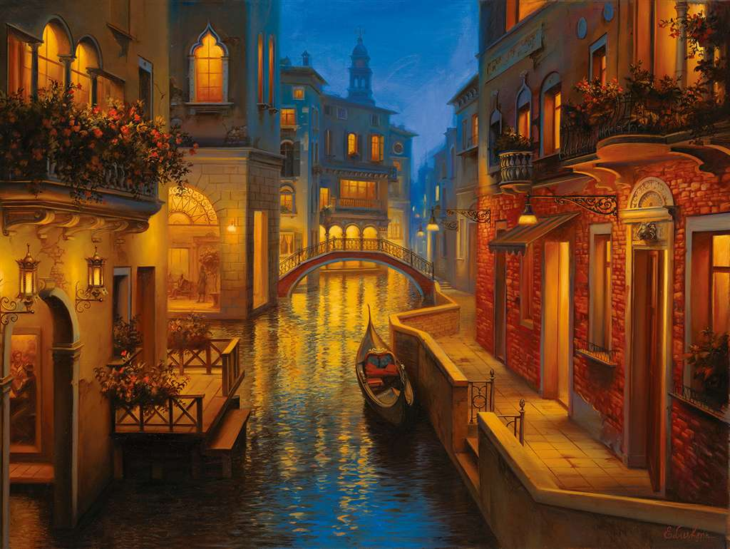 waters of venice venice scenery of venice 1500 Piece puzzle by Ravensburger 2014 premium puzzel soft waters-of-venice