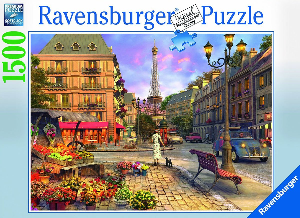 vintage paris eiffel tower jigsaw puzzle, ravensburger, 1500 pieces, corbis photo 163946 vintage-paris