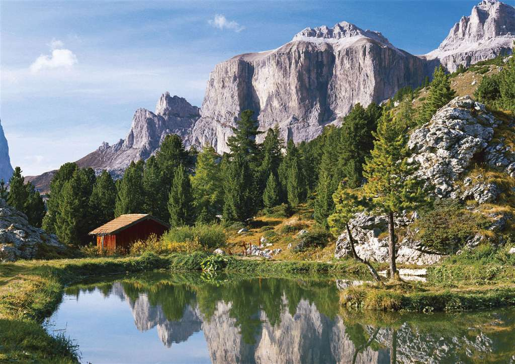 passo del sella dolomites italy jigsaw puzzle 1500 pieces ravensburger # 163427 the-dolomites