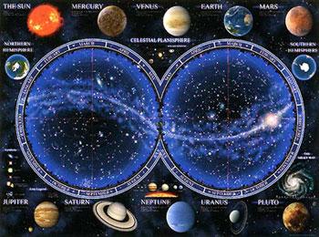 Celestial Map solar system sun earth pluto mars venus 1500piece jigsaw puzzle ravenberger planets celestialmap