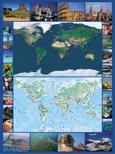 Earth Map satellite photo map 1500Piece JigsawPuzzle by RavensbergerPuzzles # 163755 earth-map-satellite-photo-jigsaw-puzzle