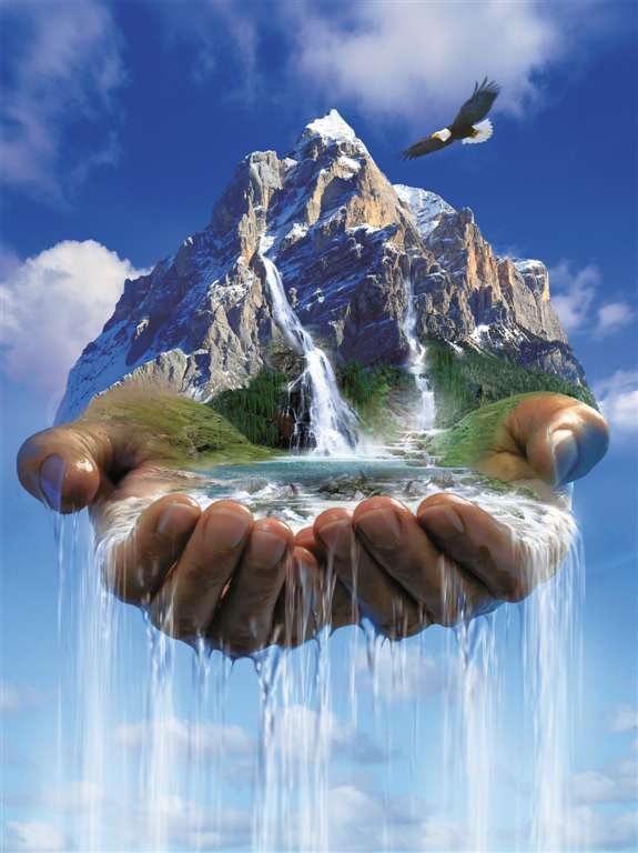 the earth is in our hands Ravensburger 1000 Piece Jigsaw planet Puzzle hubert photo earths-in-our-hands