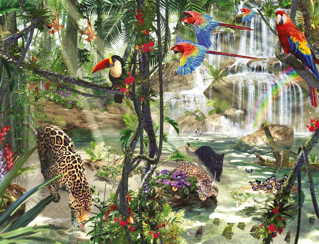 Jungle Impressions 2000 Pieces made by Ravensburger item # 166107 Tropical Impressions copy jungle-impressions