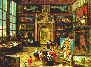 ravensburger jigsaw puzzle 2000 pieces gallery of a collector by Frans Francken II galleryofcollector