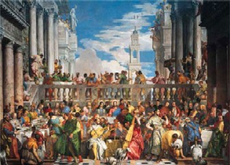 PaoloVeronese Marriage at Cana Painting 2000 Piece Jigsaw Puzzle Ravensburger # 166534 marriageatcana