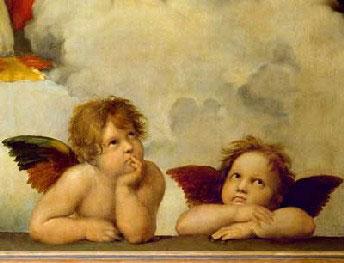 raffael raffaello painter artist cherubs detail madonna sistina puzzle ravensburger raphaelcherubs