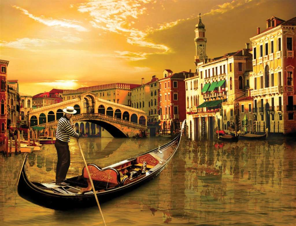 gondolier in the scenery of venice 2000 Piece puzzle by Ravensburger 2010 premium puzzel softclick t gondolier-in-venice