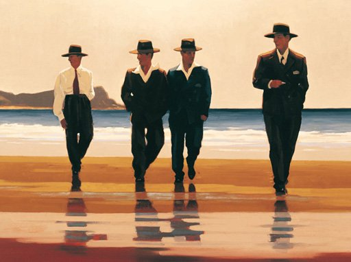 The Billy Boys by painter Jack Vettriano 1000Piece JigsawPuzzle by Ravensberger Puzzles billy-boys-jack-vettriano