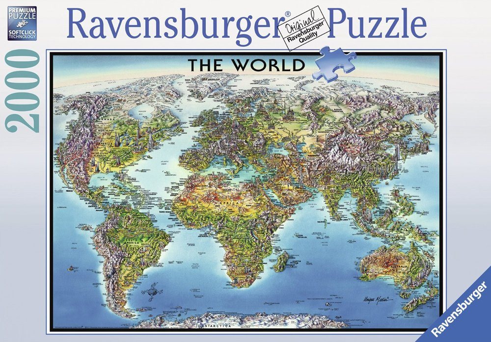 Ravensburger jigsaw puzzle world map puzzel item 166831 ravensburger puzzle 166831 world map jigsawpuzzle with country flags world map ravensburger gumiabroncs Choice Image