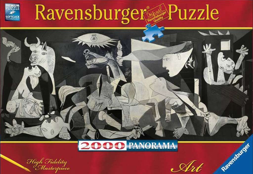 ravensburger panorama puzzle of picasso, guernica painting puzzle 2000 pieces guernica-pablo-picasso