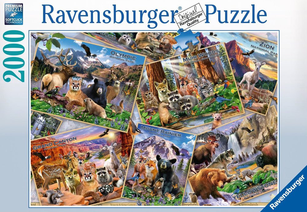 National Parks Postcards 2000 Pieces made by Ravensburger item # 166978 postcard-parks