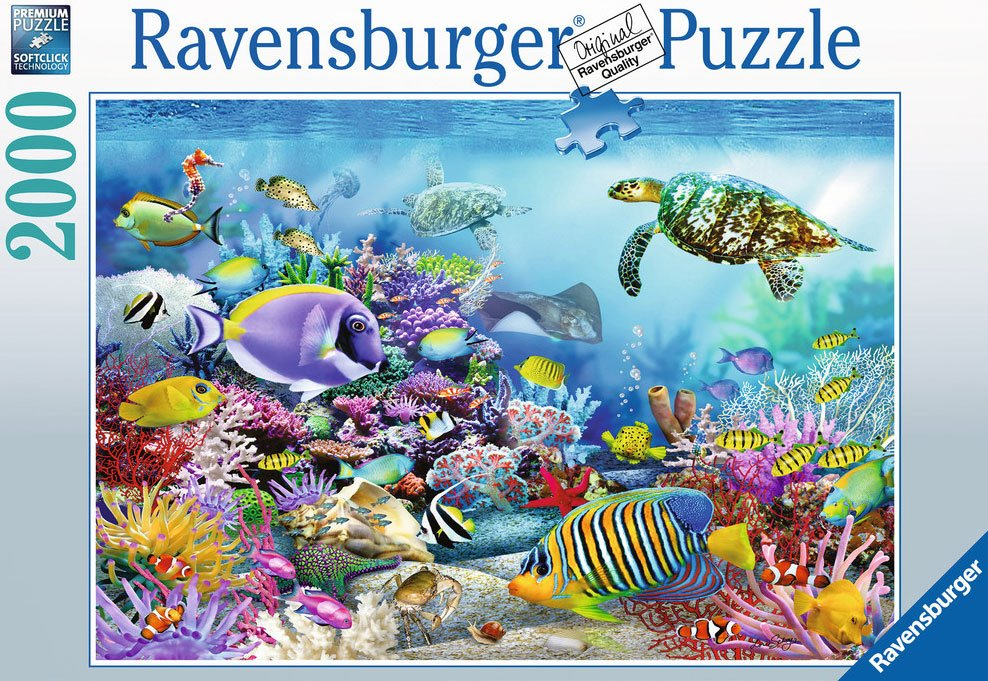 coral reef majesty dolphin puzzle 2000 pieces by Ravensburgerjigsawpuzzles coral-reef-majesty